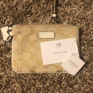 Coach Bags - Tan/Nude COACH wallet/wristlet